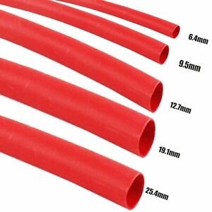 Red-Heat-Shrink-Tubing-3-1-Wire-Insulate-Protective-Covering-Wrap-Multiple-Sizes