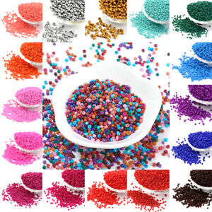50g-Opaque-Glass-Seed-Beads-Smooth-Tiny-Round-Loose-Pony-Solid-Color-2mm-3mm-4mm