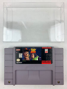 Disney Toy Story SNES Super Nintendo Game With Cartridge Protector Tested Works