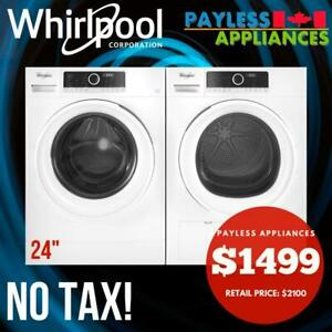 Whirlpool WFW3090JW 24 Inch Compact Front Load Washer and YWHD3090GW 24 Inch Compact Ventless Heat Pump Dryer Oshawa / Durham Region Toronto (GTA) Preview