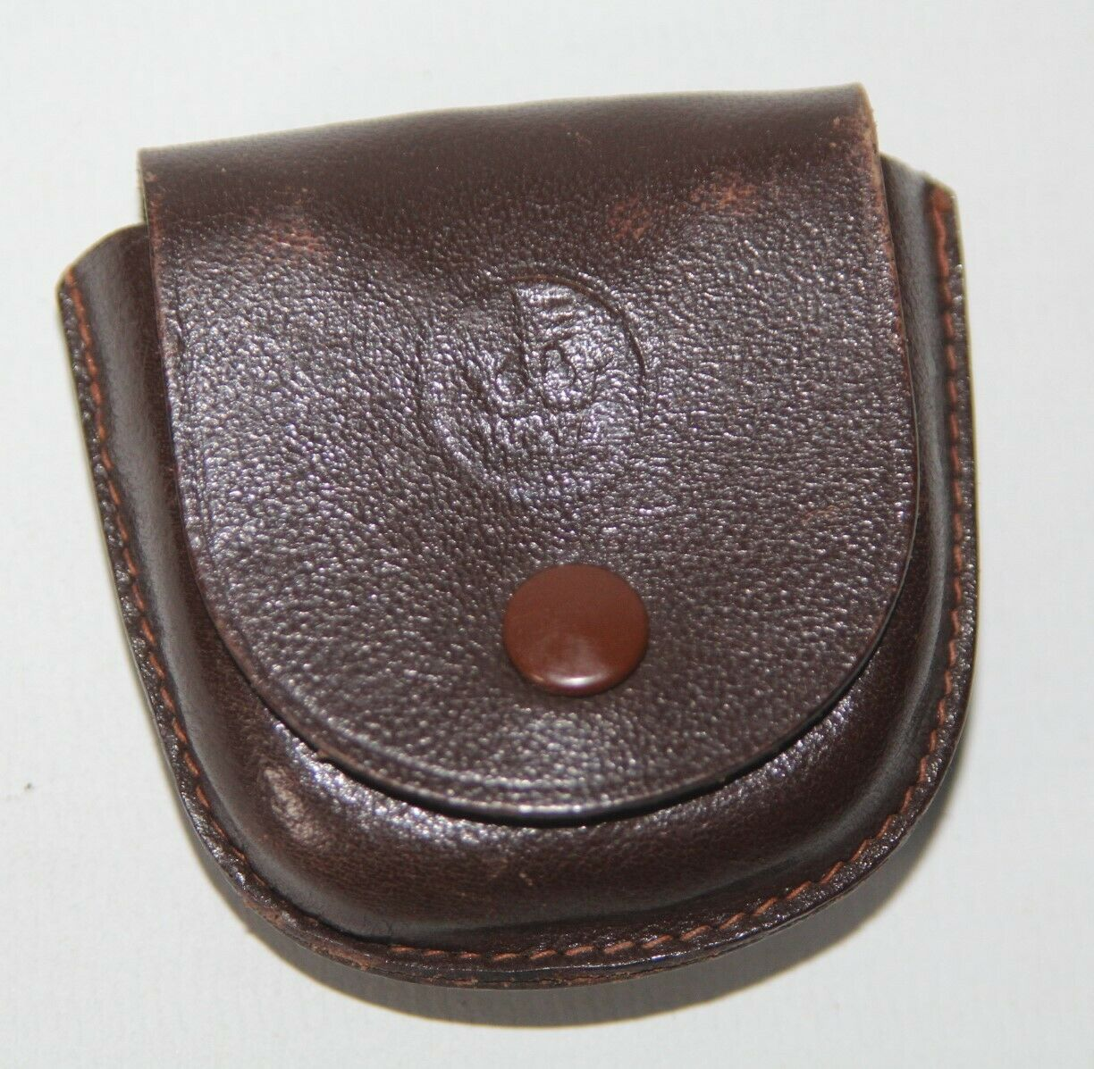 Wata, Germany - Vintage Brown Leather Strap-Mount Accessory Case - vgc