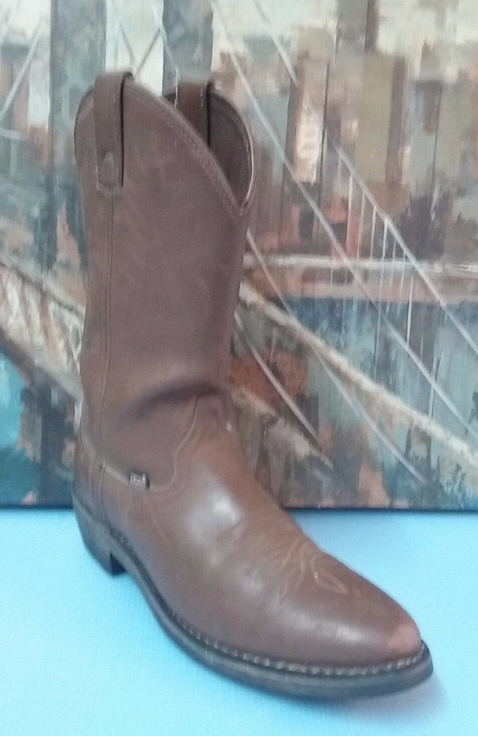 Justin work boots  farm ranch Sz 9 D Style JB1100  Brown