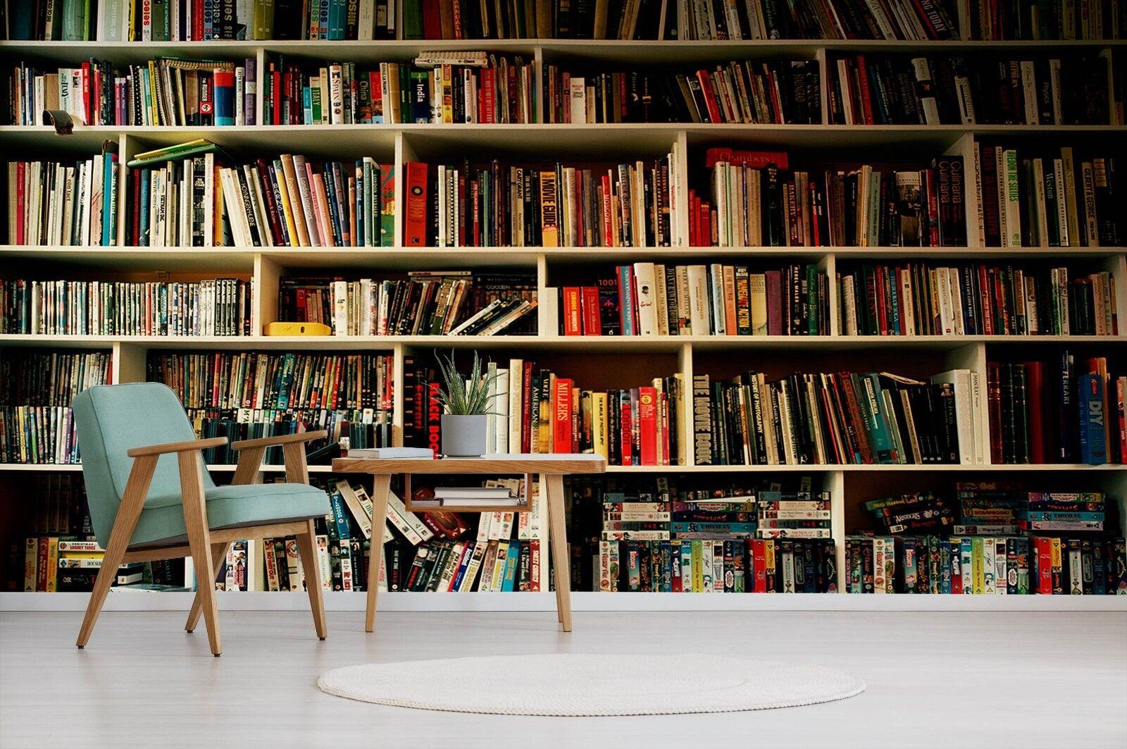 3d 3d 3d Bookshelf Corner 54 Wallpaper Murals Wall Print