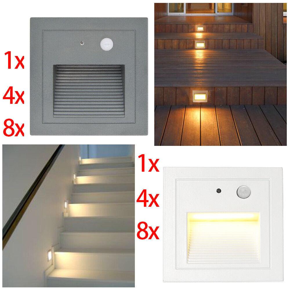 LED Wandeinbauleuchte Wandleuchte Stufe Treppenlicht mit Bewegungsmelder 230V   | Um Sowohl Die Qualität Der Zähigkeit Und Härte  | Bequeme Berührung  | Niedrige Kosten