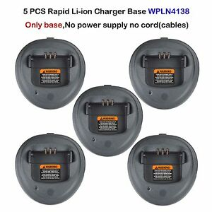 5x Rapid Li-ion Charger Base For Motorola CP200 CP200D CP200XLS Portable Radio