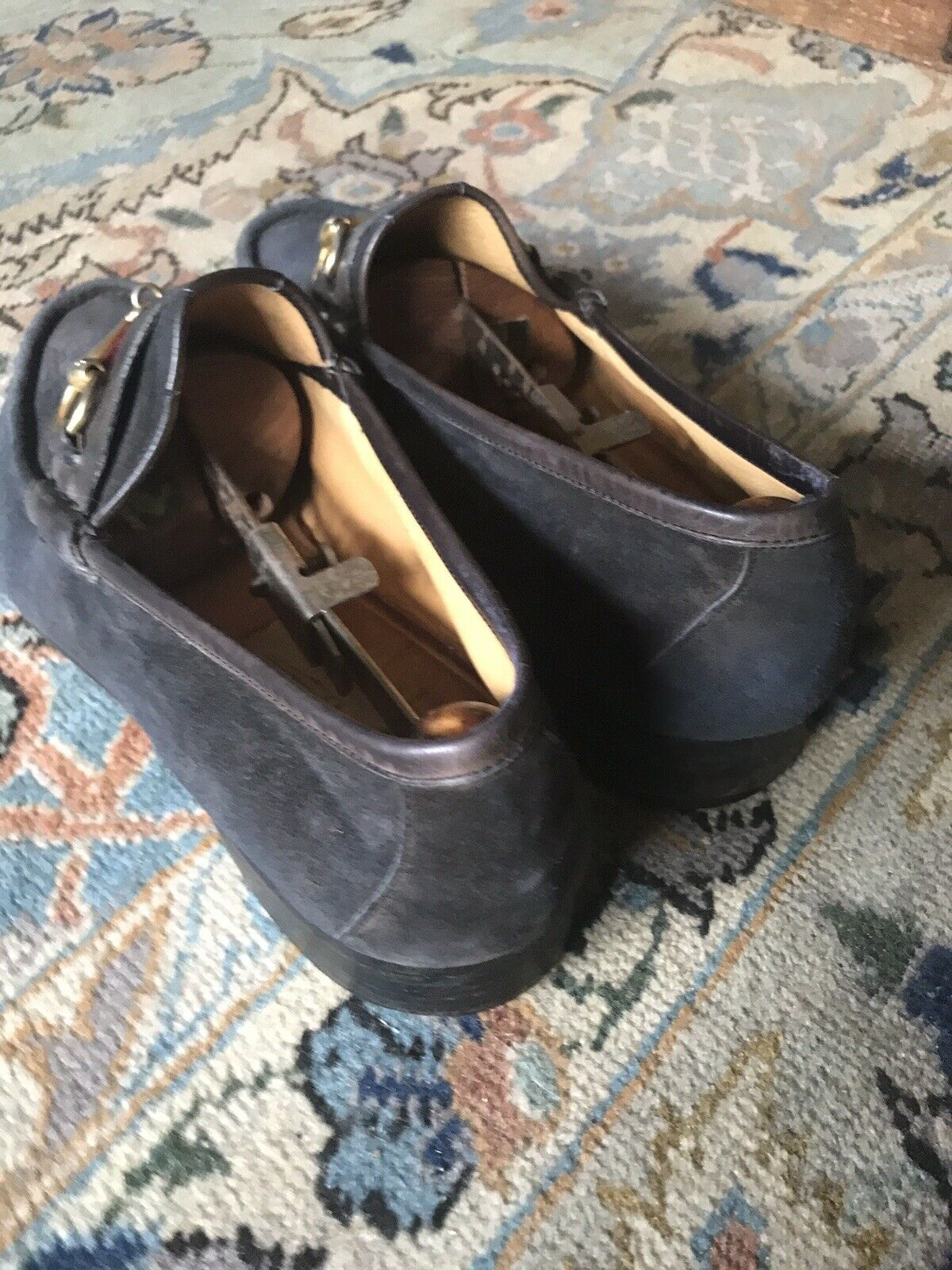 Gucci horsebit suede loafers 45 1/2 - image 4