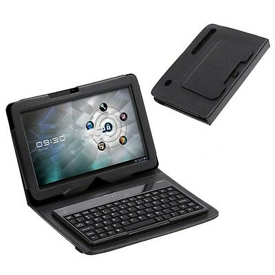 Bluetooth 3.0 Wireless Keyboard Leather Case Stand Skin For Motorola Xoom Tablet