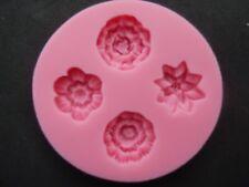 4 silicone Forme de fleur moule Gâteux chocolat savon décoration en pâte à sucre
