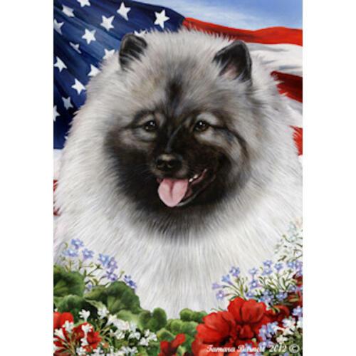 Keeshond Patriotic Flag