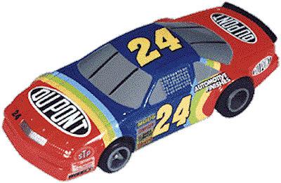 Jeff Gordon 24 DUPONT Hendrick Chevrolet NASCAR HO Slot Car Life Like T  Chassis | eBay