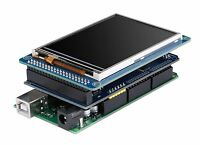 Arduino Mega Compatible + 3.2 Tft Lcd Touch + Tft Mega Shield (ship From Usa)
