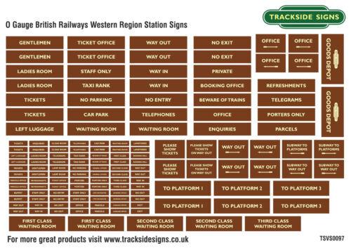 British Railways Western Region Model Railway Station Signs O Gauge 7mm