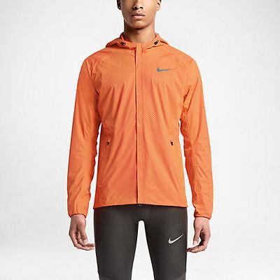 Details zu Nike Shield Flash Max Jacket 619422 853 Reflective 3M Orange Crimson Silver Rare