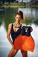 Freitauch Monoflosse Für Die Meerjungfrau Von Triton In Der Farbe Orange