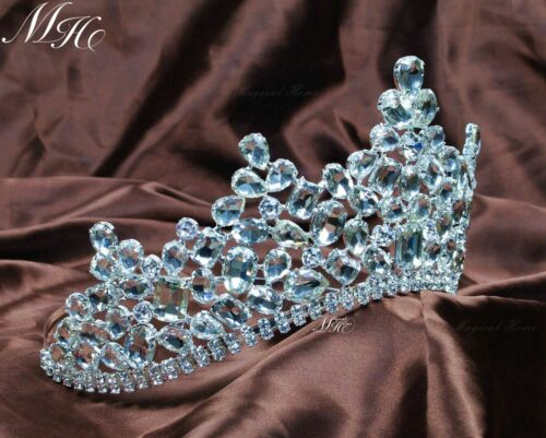 Sparkling Clear Crystal Crowns Rhinestones Bridal Tiaras Headband Pageant Party
