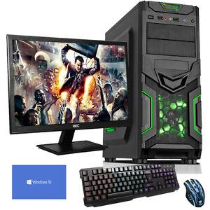 QUAD-CORE-DESKTOP-PC-COMPUTER-PER-GIOCARE-Set-3-5GHZ-16GB-1TB-ATI-RX-550-2GB