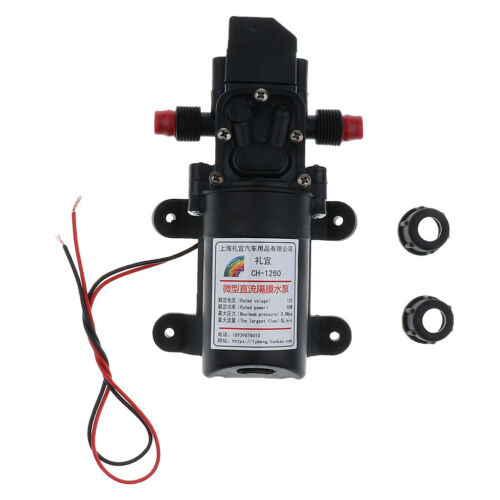 12V High Pressure Auto Diaphragm Water Pump 5L//min 100 PSI Pressure Switch