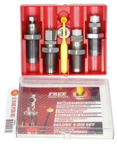 Lee Deluxe Pistolet 4 die Carbure Set de divers calibres/tir/rechargement 9 F  </span>