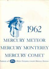 1962 Mercury Meteor Monterey Comet Dealers Kit Brochure 152948-PH2USL