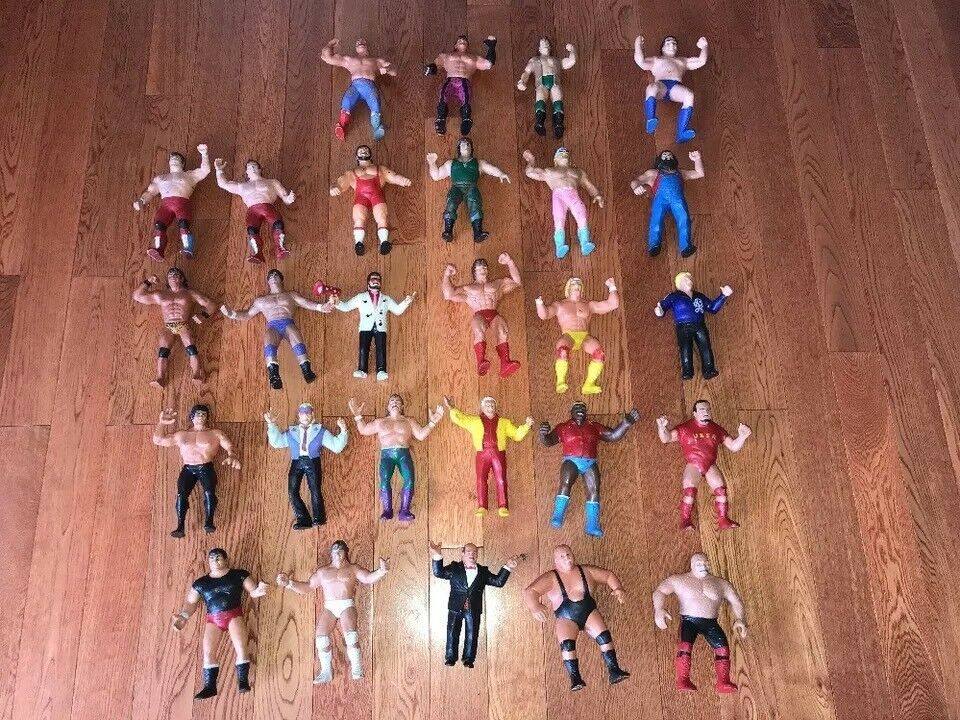 Lot of 27 Vintage LJN WWF Wrestling Action Figures 1980 Hulk Hogan/Bull Dogs