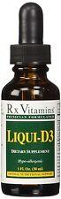 RX Vitamins Liqui-D3 2000 IU 1 oz (Liquid Vitamin D3) - Exp Date: 02/2019
