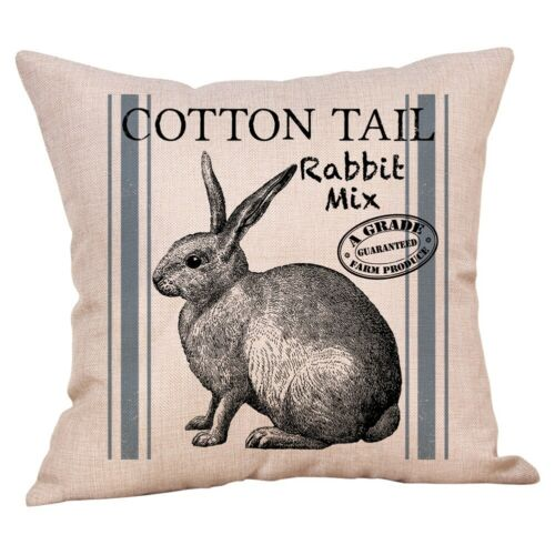18 Inch Spring Easter Rabbit Bunny Pillow Cases Decorative Cushion Sofa Covers