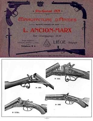 Liege Ancion-Marx 1909 Gun Catalog
