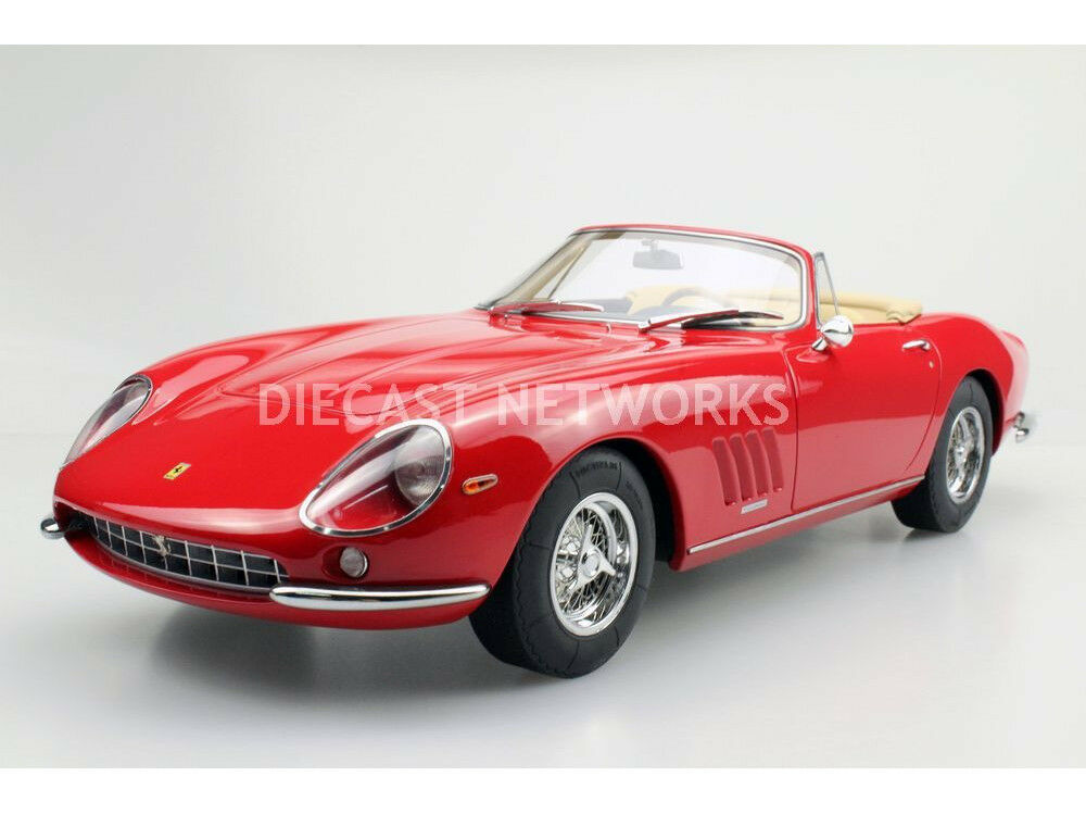 Top Marques 1967 Ferrari 275 Gtb 4 Nart Spyder Rouge en 1 12 Échelle Neuf