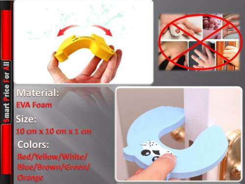 Safety Door Stop Protect Fingers Stopper Guard Infant Baby UK Seller