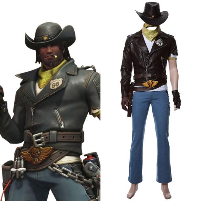 OW Overwatch Jesse Mccree Cosplay Costume