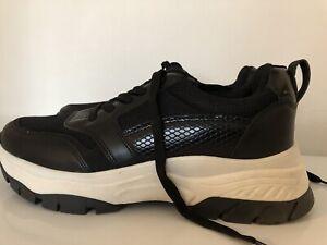 Zapatillas-para-hombre-negro-Bershka-Talla-40-EU-7-Reino-Unido
