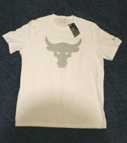 Under Armour projet Rock Chemise Homme Brahma Bull Logo UA Blanc fabricants Standard prix de détail $35 Neuf Avec Étiquettes M-XL