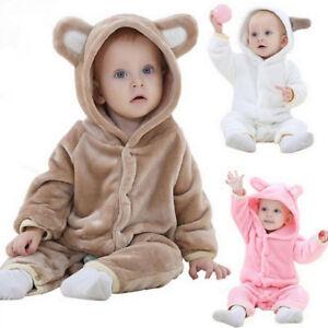 Recien-Nacido-Ropa-Bebe-Juegos-Ninas-de-Nino-Animal-Formas-con-Capucha