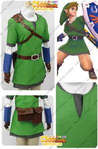 1761edaa9 legend of zelda Link Cosplay Costume skyward sword only tunic & hat ...