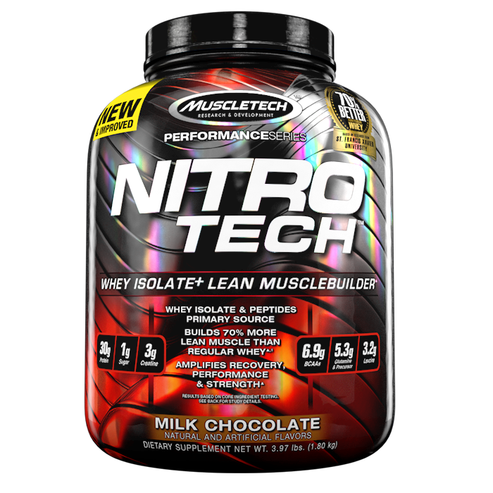 MuscleTech Nitro Tech Performance Series 4lbs (1.8kg) Whey Isolate