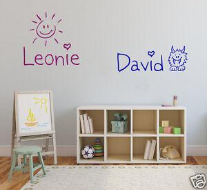 Wandtattoo mit Wunschname viele Motive Kinderzimmer Name Aufkleber ...