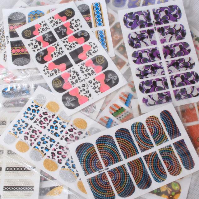 Random10/20 PCS Nail Art Tips Foil Stickers Wrap Patch DIY Decor Design(KB)