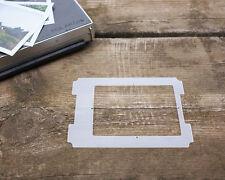 Polaroid framing template for #405 on 4x5 Graflok Graflex Speed Crown Graphic