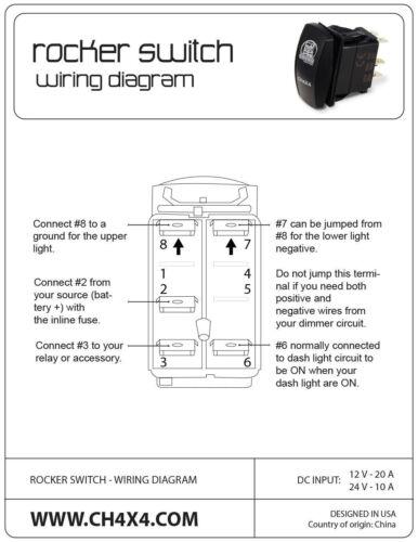 CH4X4 Marine Rocker Switch V2 Wiper Symbol