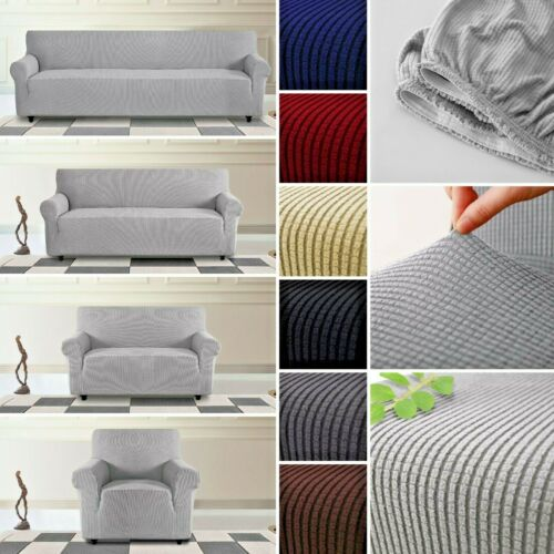 1-4 Seats Stretch Elastic Fabric Sofa Protector Couch Sofa Slip Cover Waterproof