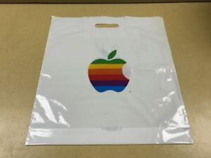 NEVER-USED-AUTHENTIC-Apple-Computer-COLORFUL-RAINBOW-LOGO-BAG