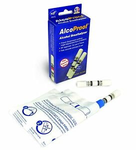 Alcoproof NF Approved Breathalyser Twin Pack Disposable Single Use Long Expiry 5023808928999