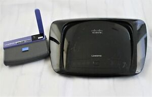Lot-of-Two-Cisco-Linksys-Modem-and-Router-Wireless-G-Network-Adapter