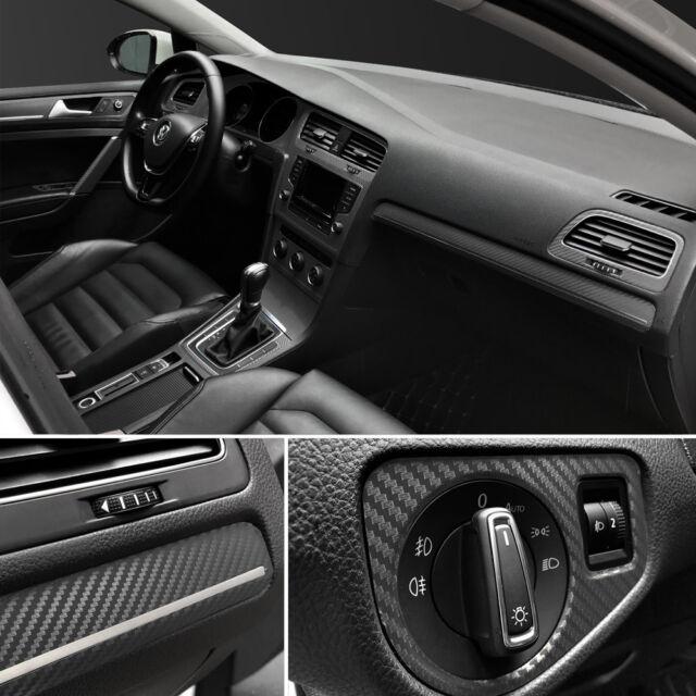 3d Car Interior Accessories Interior Panel Black Carbon Fiber Vinyl