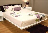 Full Size Platform Bed Frame No Box Spring Needed Modern Furniture 4 Colors