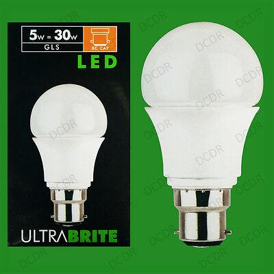 8x 5w Led Light Bulbs Gls Lampade Ultra Bassa Energia Bc B22 Globi, 325 Lumen-