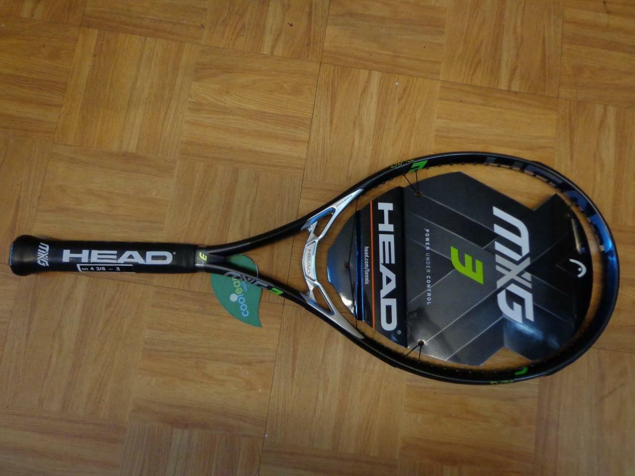 NEW 2017 Head MXG 3 Midplus 100 head 16x18 10.4oz 4 1/4 grip Tennis Racquet