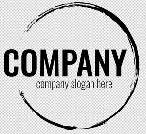 Fertiges Firmenlogo,Template #030 Vektorgrafik, Company Logo, Black Circle