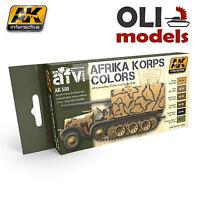 Afrika Korps Colors Camouflage Dak Acrylic Paint Set - Ak Interactive 550