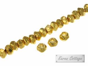 Karen-Hill-Tribe-Silver-Gold-vermeil-Plain-Hexagon-Spacer-3mm